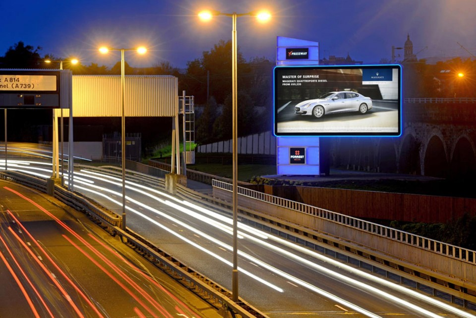 Project Highlight Led Backlit Advertising Tower Scotland