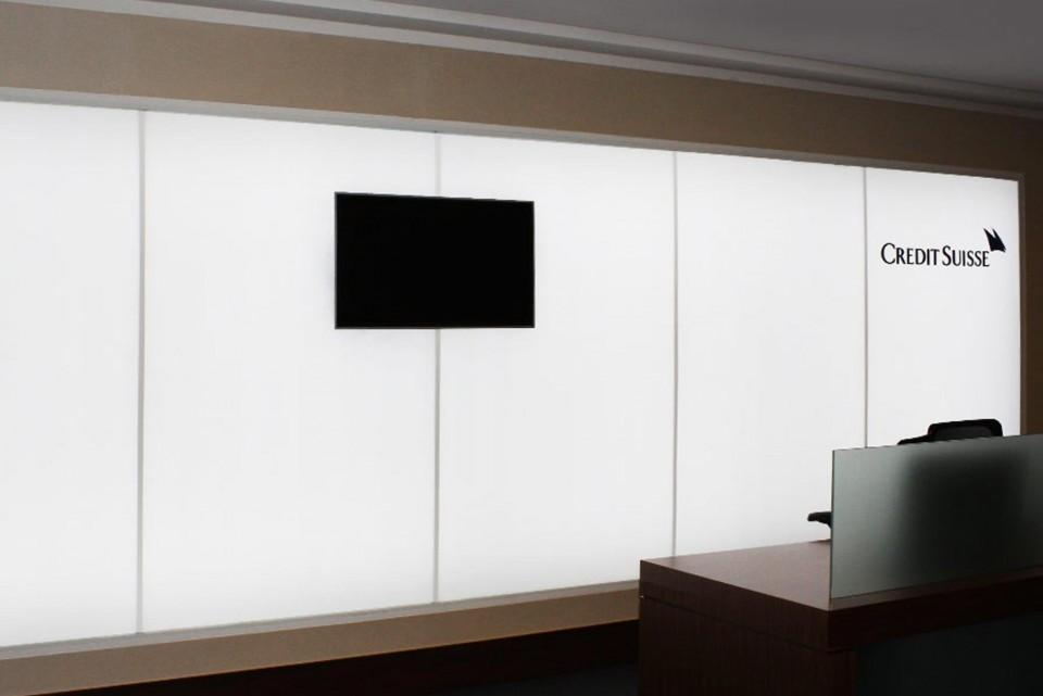 LED backlit wall