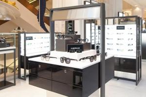 LED backlit sunglasses display
