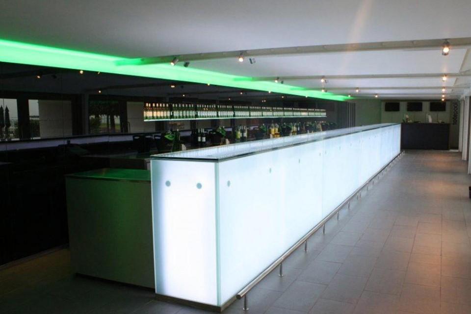LED backlit bar