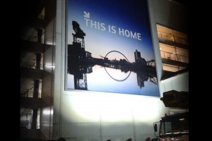 Illuminated airport advertising