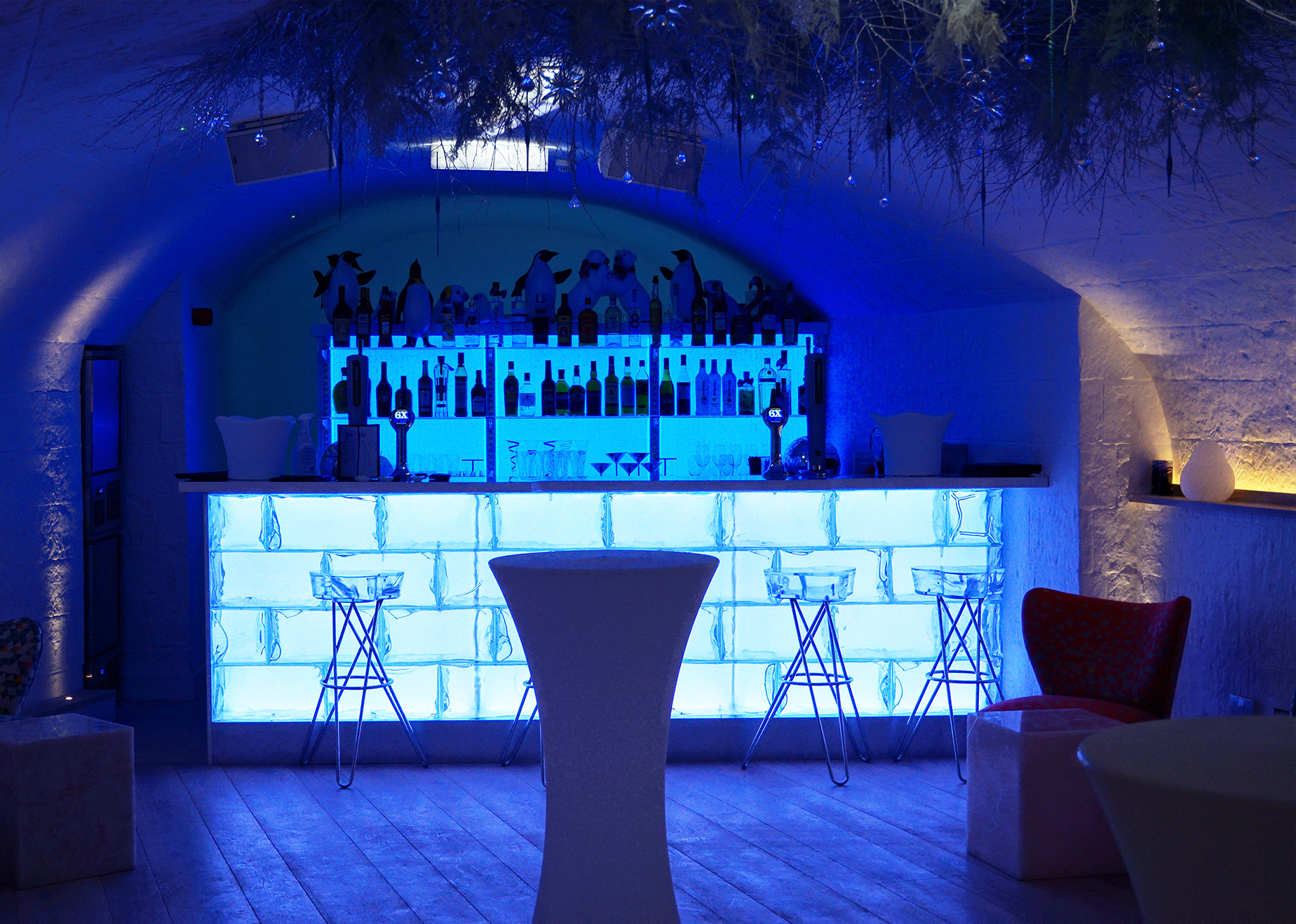 Led Light Panel Used To Up New Igloo Bar Bright