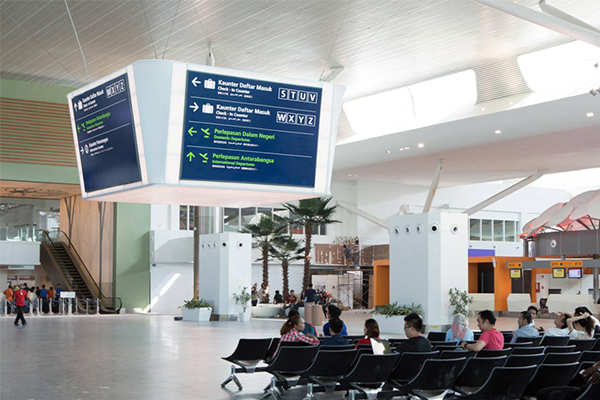 LED airport signage