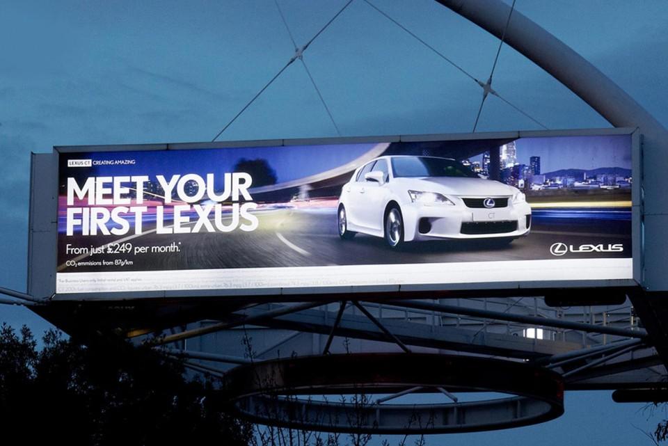 Illuminated billboards