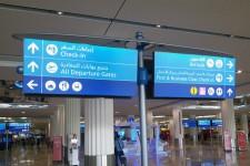 Dubai Airport LED wayfinding