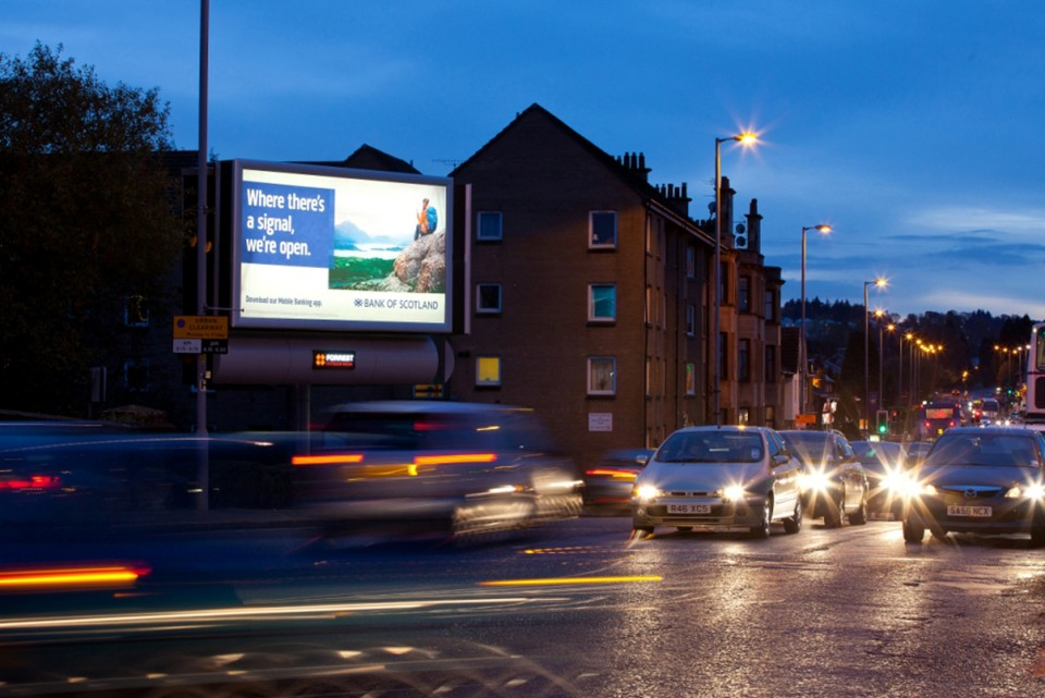 Illuminated advertising sites