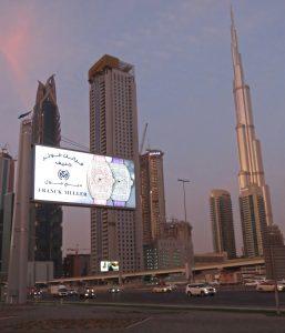 Backlit billboard, Dubai