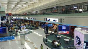 backlit advertising at Dubai Airport