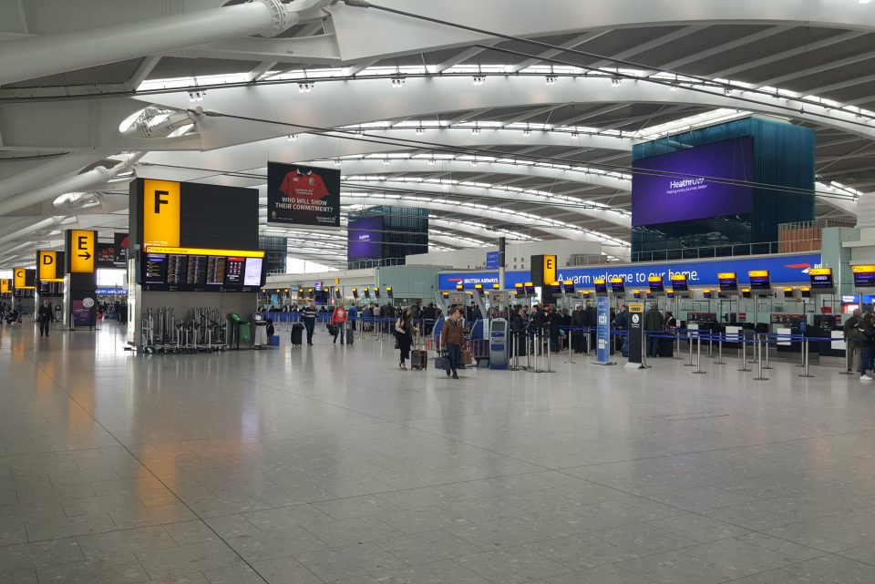 Heathrow T5 departures