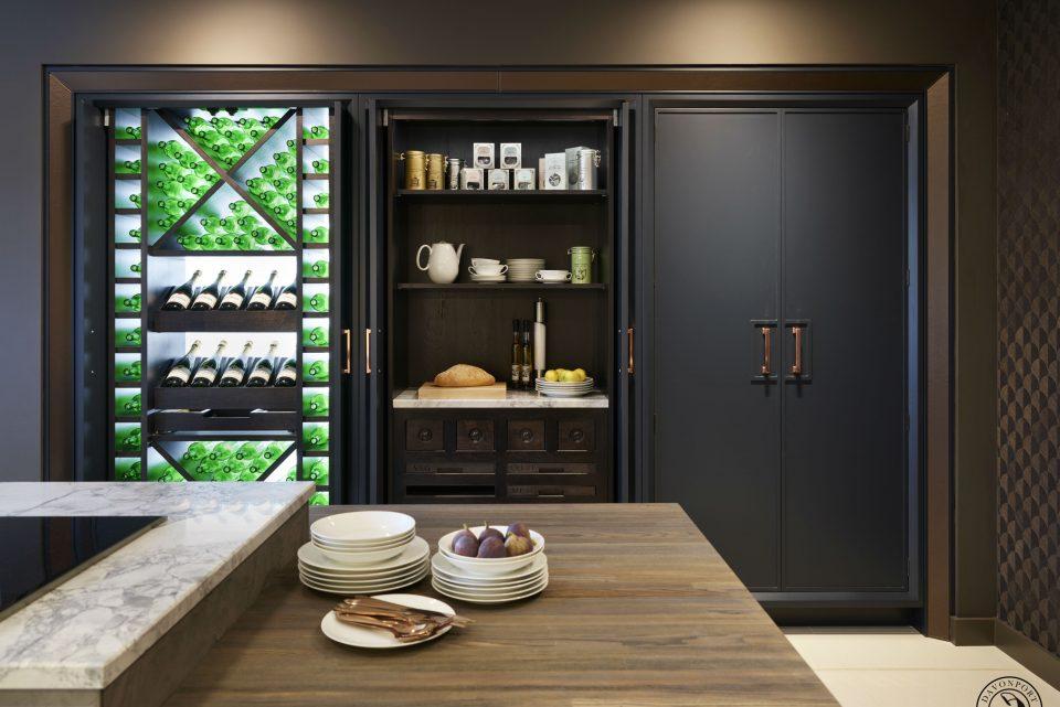 Backlit wine rack