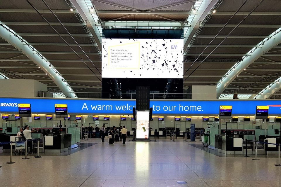 Heathrow advertising display