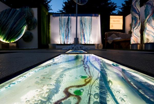 illuminated glass art