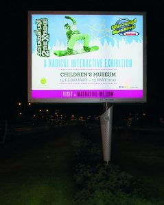 Double sided led advertising