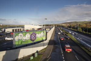 Belfast City Airport large outdoor advertising billboards