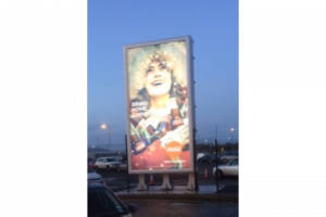 Belfast City Airport large outdoor advertising billboards
