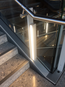 Heathrow Emergency stair LED lighting