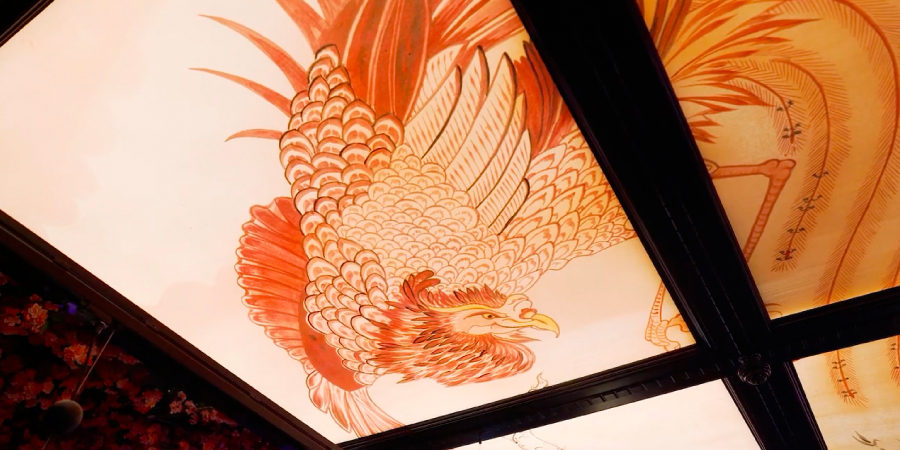 Illuminated ceiling for Edinburgh Tattu