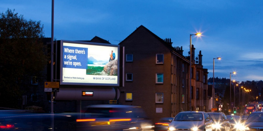 Backlit billboards, Scotland
