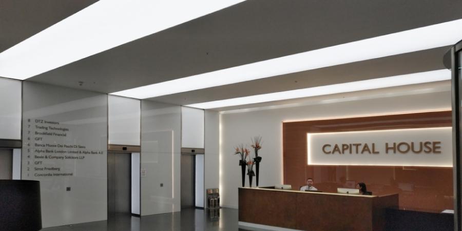 Reception area, London