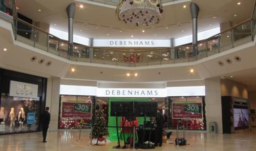 LED retail illumination at Debenhams