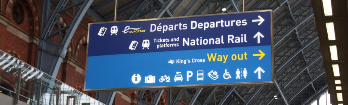 Eurostar wayfinding, St Pancras International