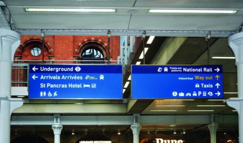 Eurostar wayfinding, St Pancras International