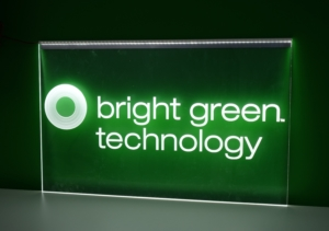 Branded LED illuminated screen