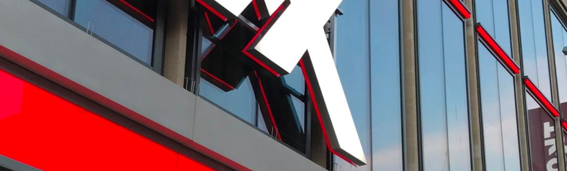 LED illuminated glass at TK Maxx
