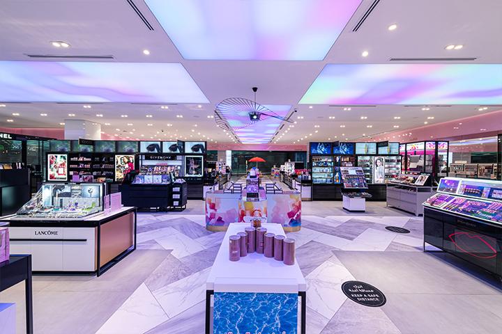 RGB illuminated stretch ceiling