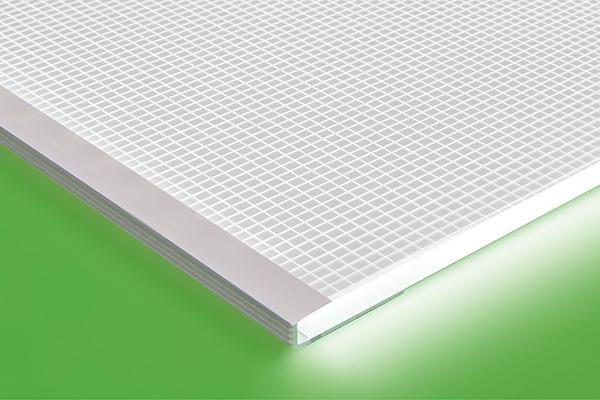 LED Light Sheet frame A profile detail
